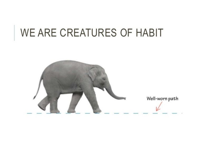 Creatures of habit - Unhabituate