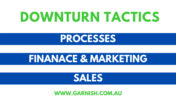 Downturn Tactics to help your Business look upwards